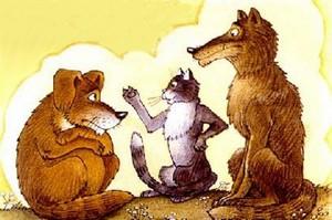 Лисичка, кот, волк, медведь и кабан