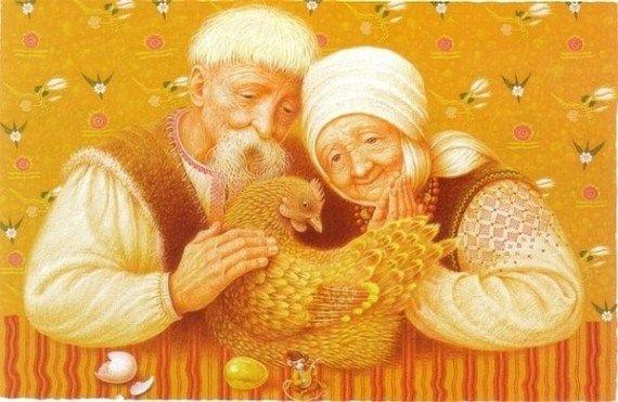 Про курочку, которая несла золотые яйца