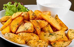 Жареная картошка с корочкой